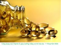 Công dụng vitamin E chăm sóc da