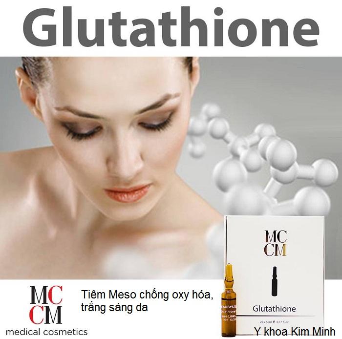 Glutathione tiêm chống oxy hóa trắng sáng da