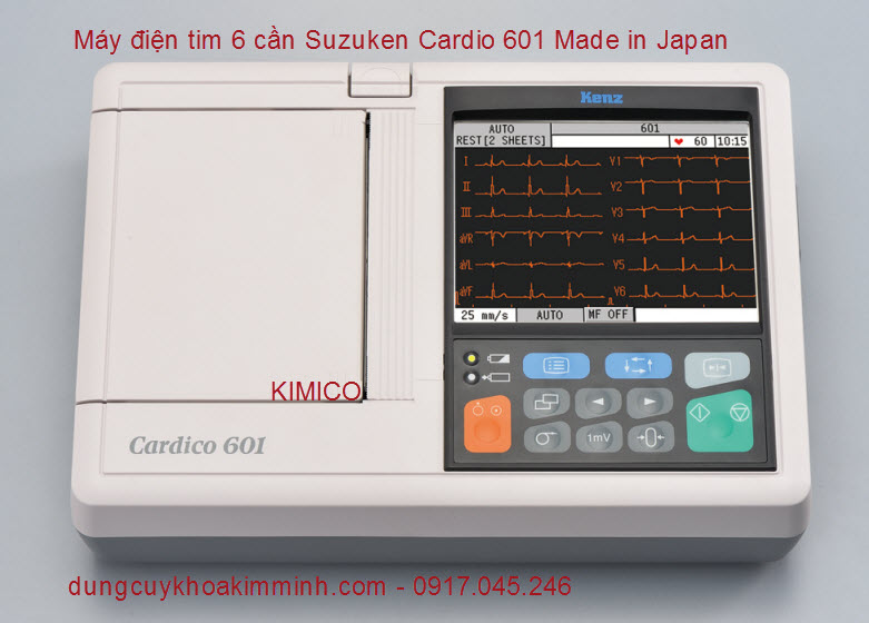 MÁY ĐIỆN TIM 6 CẦN SUZUKEN CARDIO 601 JAPAN