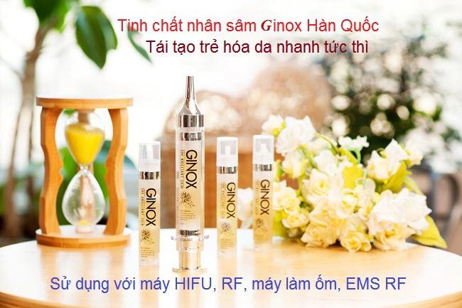 Cấy huyết thanh nhân sâm Ginox Hàn Quốc cho da lão hóa