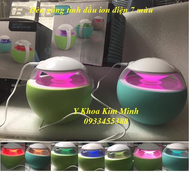 Đèn xông tinh dầu ion 7 màu WT-1787
