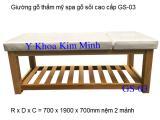 Giường thẩm mỹ spa gỗ sồi GS-03