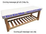 Giường massage gỗ sồi Châu Âu