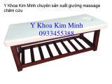 Bán giường massage châm cứu gỗ inox
