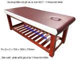Giường thẩm mỹ gỗ xà cừ 2017