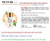 Điều trị sáng da tinh chất nhâm sâm Hàn Quốc